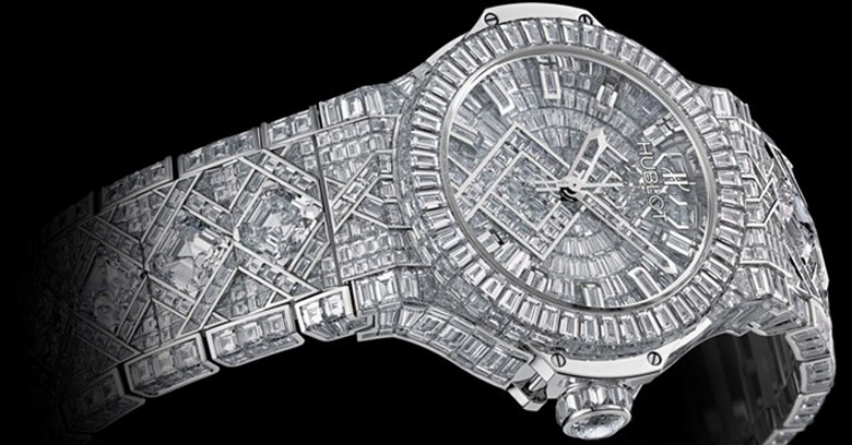 orologio di lusso diamanti 5 million dollars hublot big bang