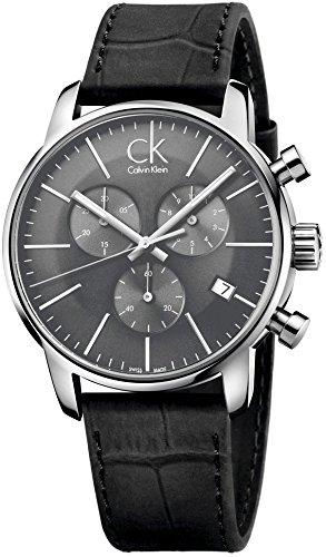 Calvin Klein Orologi da Uomo Cinturino in Pelle nera – K2G271C3