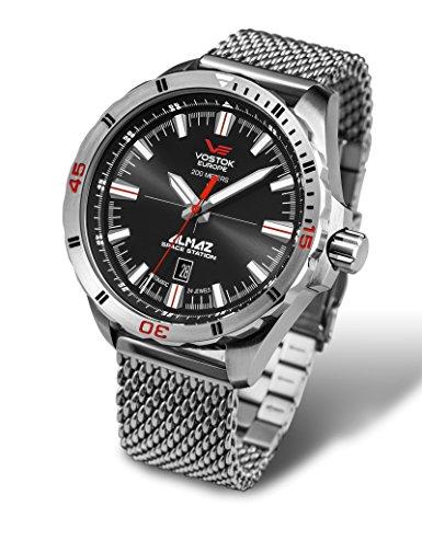 orologio con cinturino a catena Vostok Europe Herrenuhren NH35A-320A258 B
