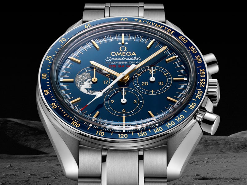 orologio di lusso omega speedmaster smoonwatch apollo17