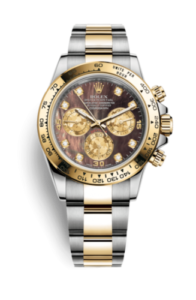 Rolex Daytona Madreperla nera con diamanti 116503-0009