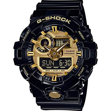 casio g shock nero oro