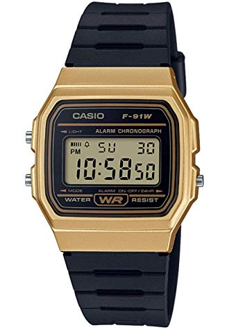 casio oro quadrante nero