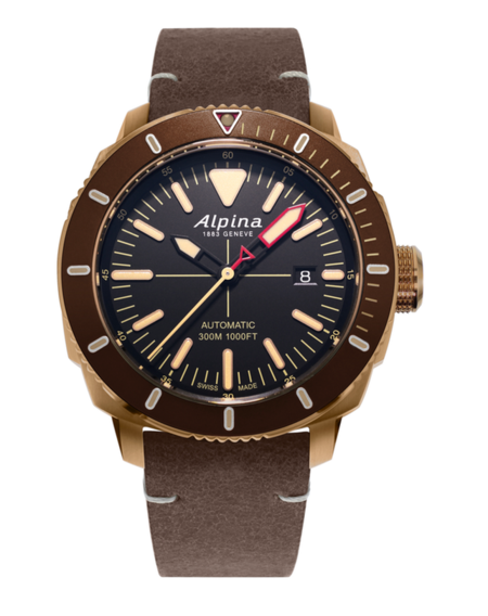 orologio con cinturino in pelle da 2000 euro - ALPINA SEASTRONG DIVER