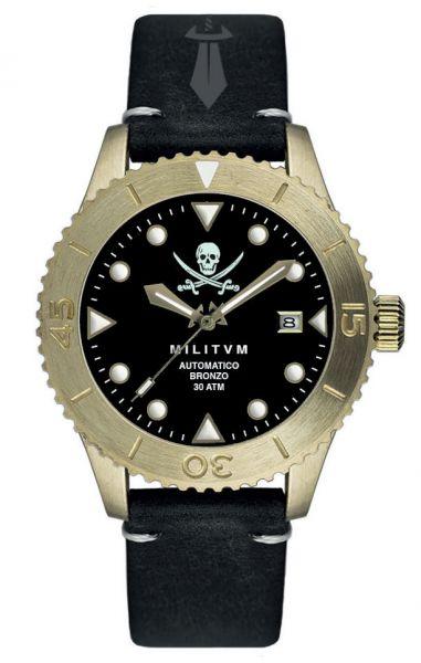 orologio Militum Bronzo Nero Jolly Roger
