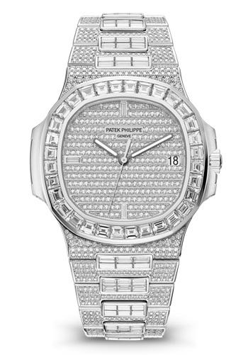 Patek Philippe Nautilus 5719-10G - pavè diamanti